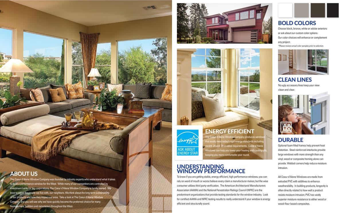 brochure design example window industry inside 1