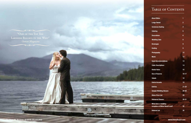 wedding brochure design example inside spread 1