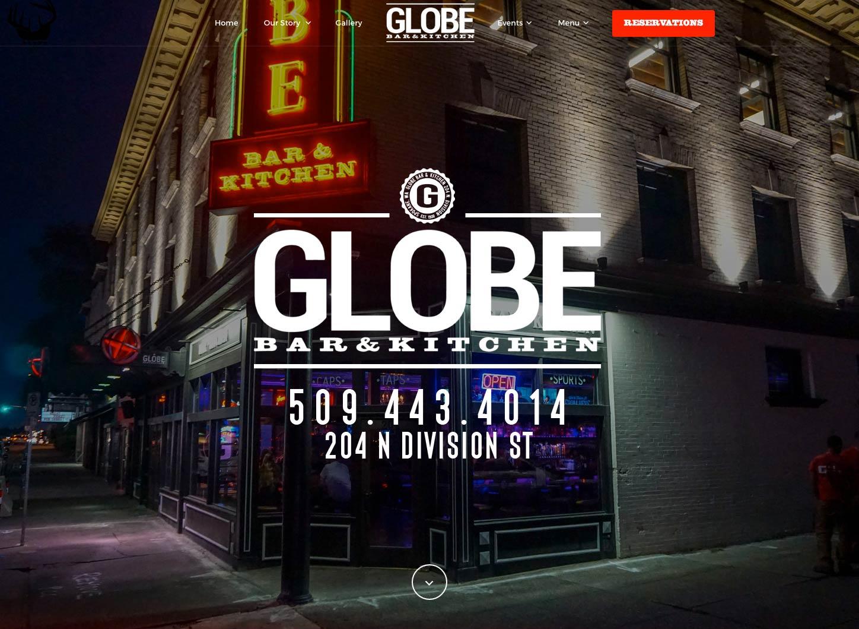 website design example online menu home page