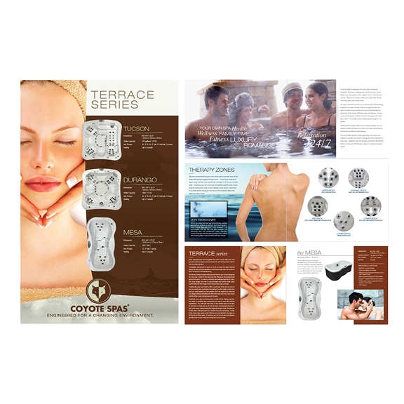 spa industry design poster and brochure example