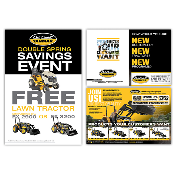 tractor poster and brochure design example