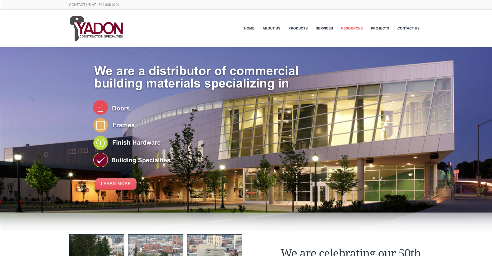 web design example construction industry sample 3