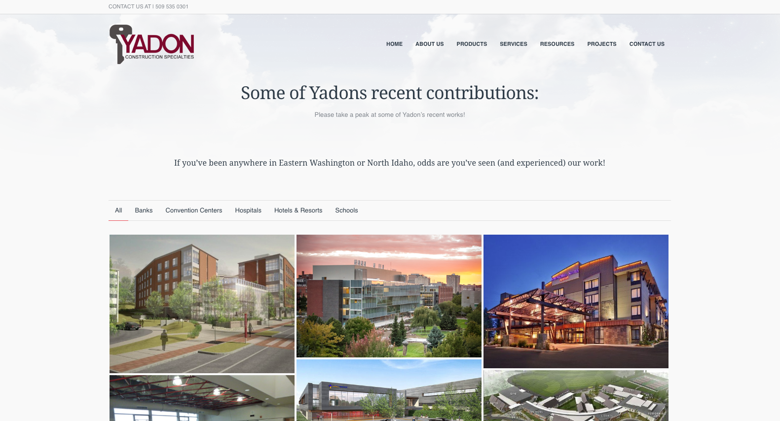web design example construction industry sample 2